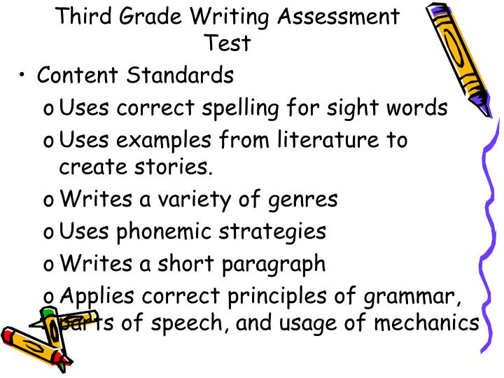 Third grade writing assessment test1
