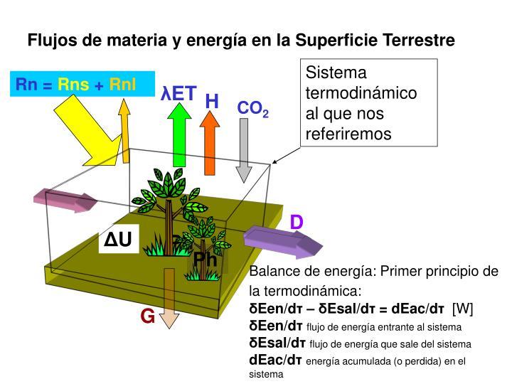 Flujos de materia y energía en la Superficie Terrestre