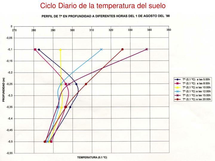 Ciclo Diario de la temperatura del suelo