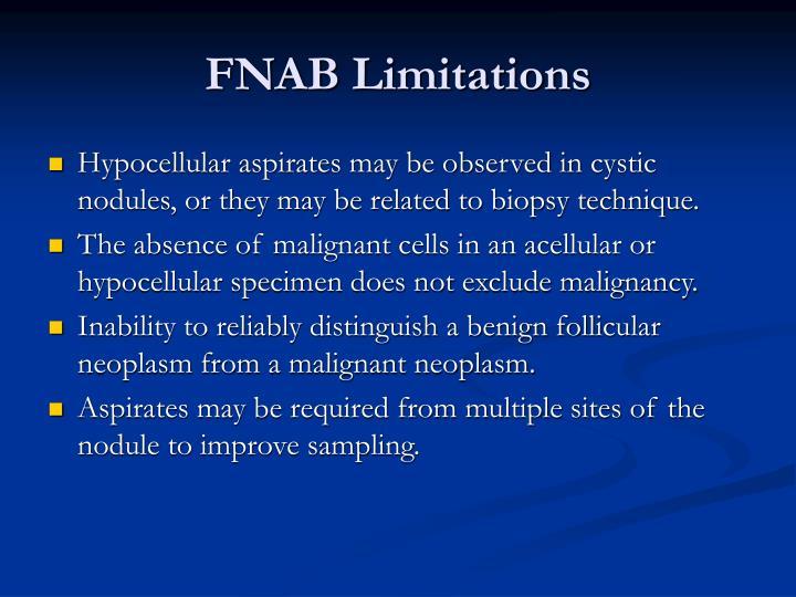 FNAB Limitations