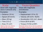 scalar vs vector quantities