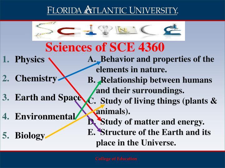 Sciences of SCE 4360