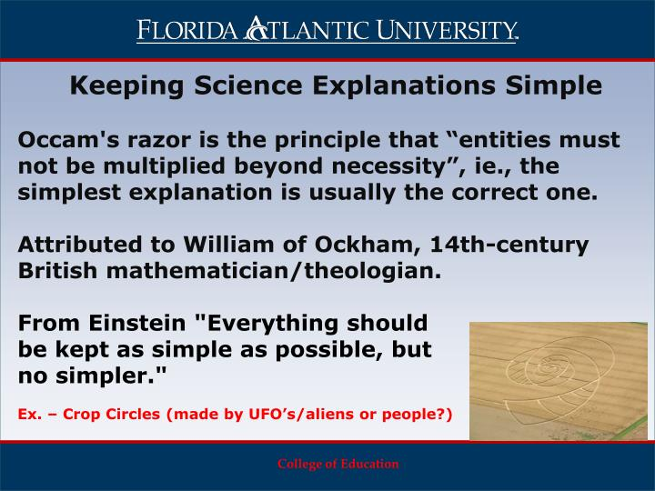 Keeping Science Explanations Simple
