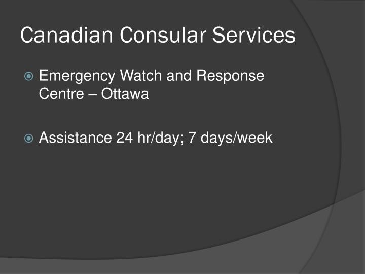 Canadian Consular Services