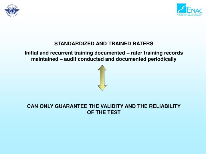 STANDARDIZED AND TRAINED RATERS