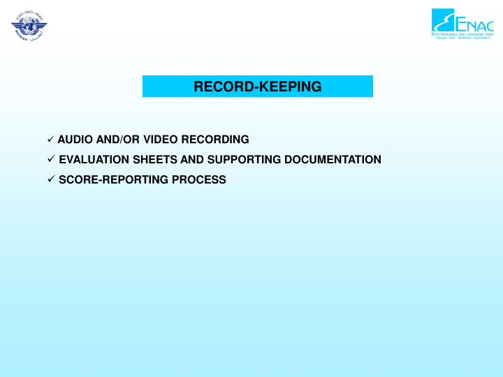 RECORD-KEEPING