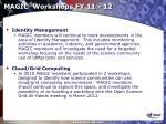 magic workshops fy 11 12