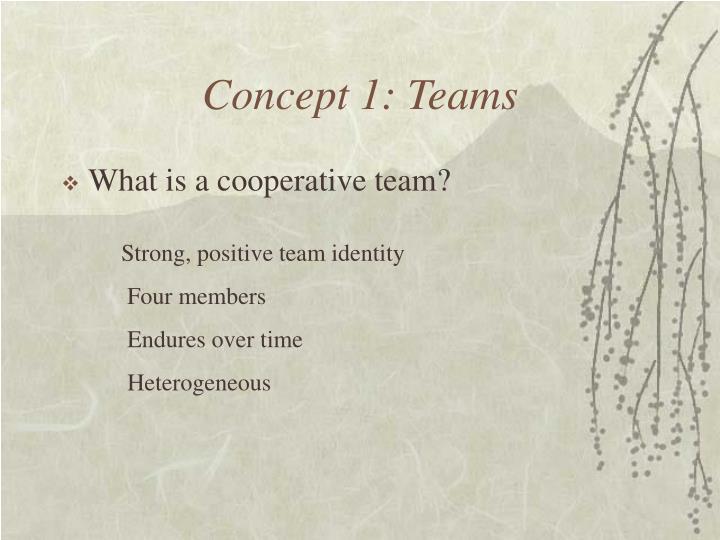 Concept 1: Teams