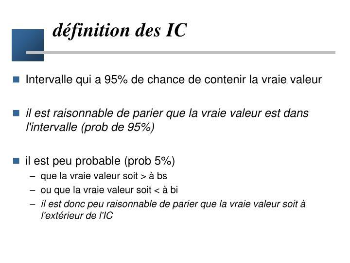 définition des IC