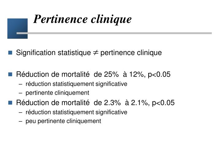 Pertinence clinique