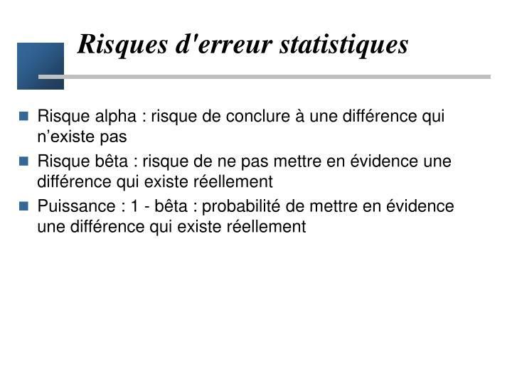 Risques d'erreur statistiques