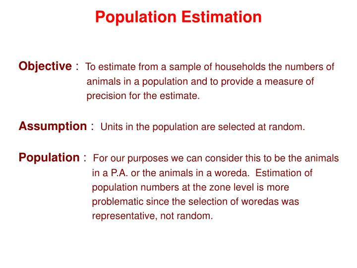 Population estimation