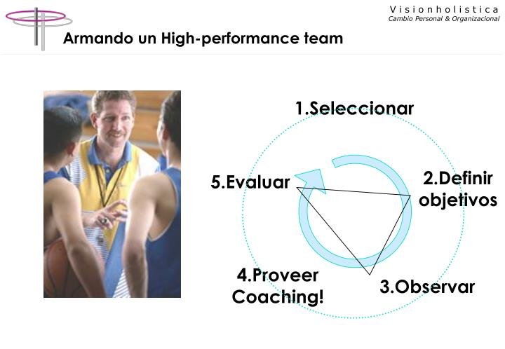Armando un High-performance team