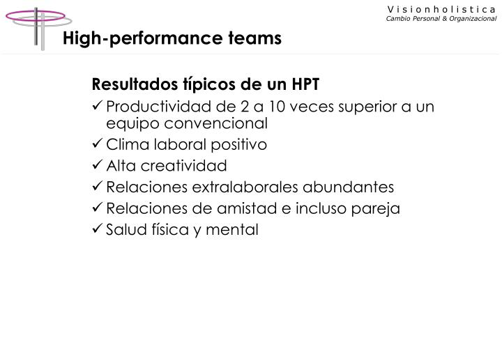 High-performance teams