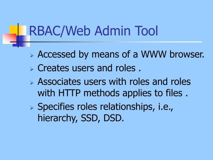 RBAC/Web Admin Tool