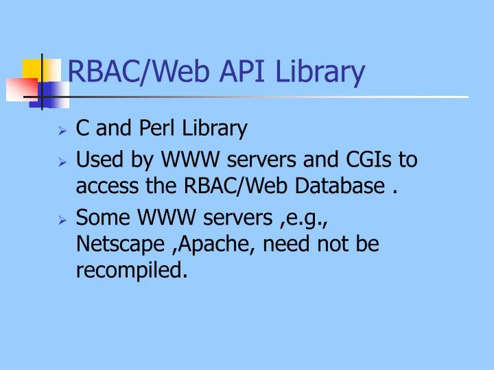 RBAC/Web API Library