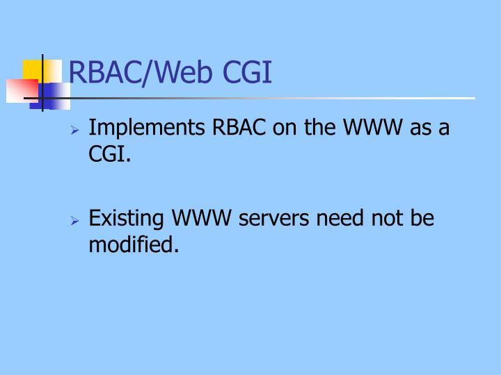 RBAC/Web CGI