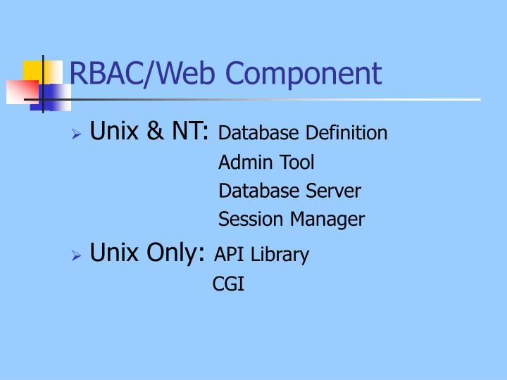 RBAC/Web Component