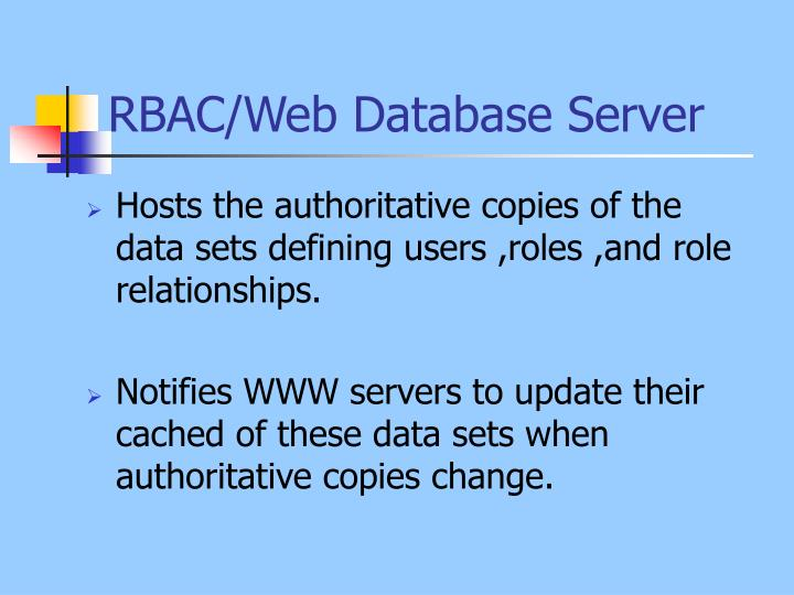 RBAC/Web Database Server