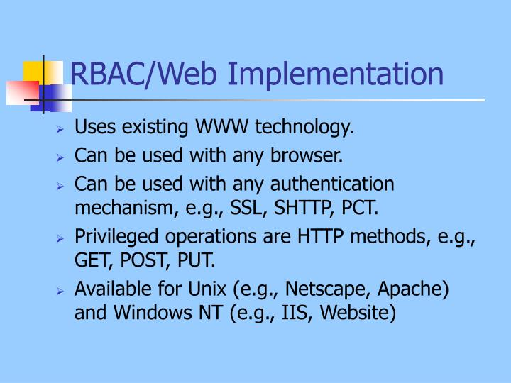 RBAC/Web Implementation