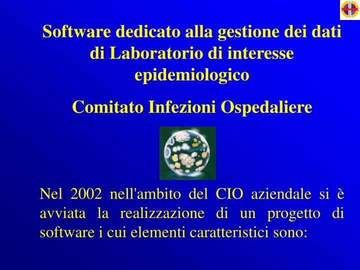 Software dedicato alla gestione dei dati di Laboratorio di interesse epidemiologico