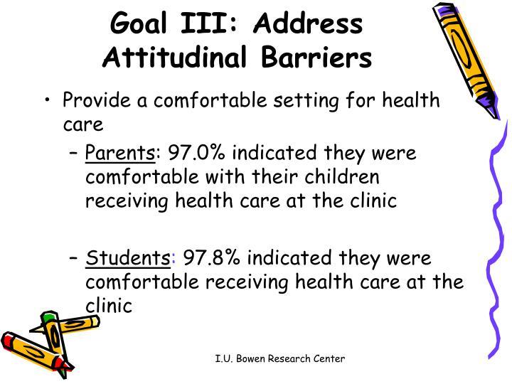 Goal III: Address
