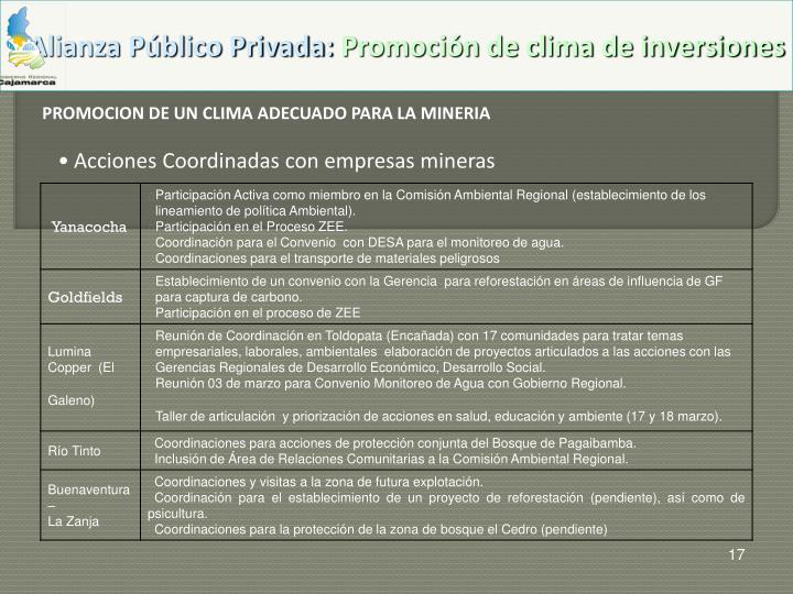 Alianza Público Privada:
