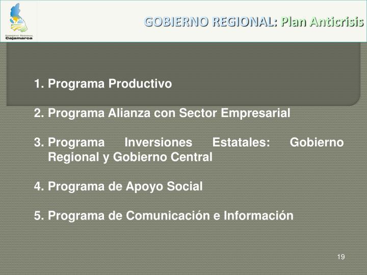 GOBIERNO REGIONAL: