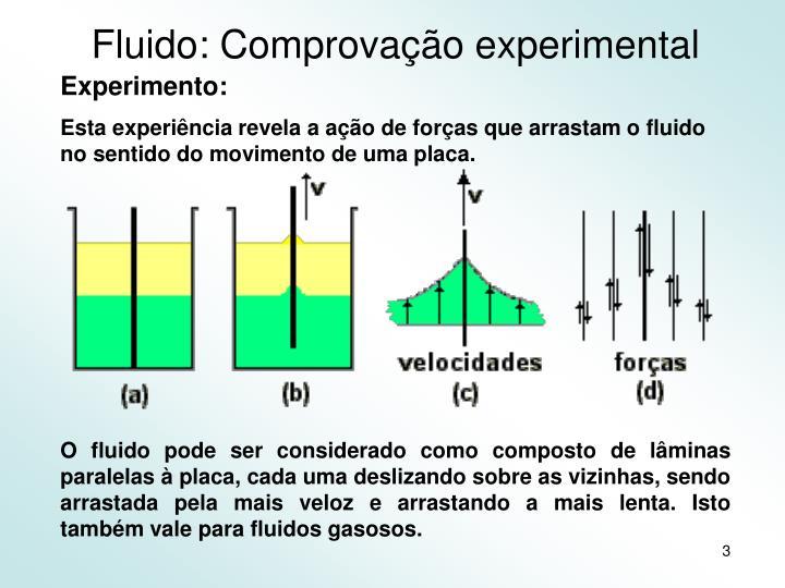 Fluido: Comprovação experimental