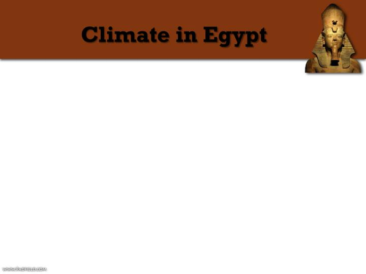 Climate in Egypt