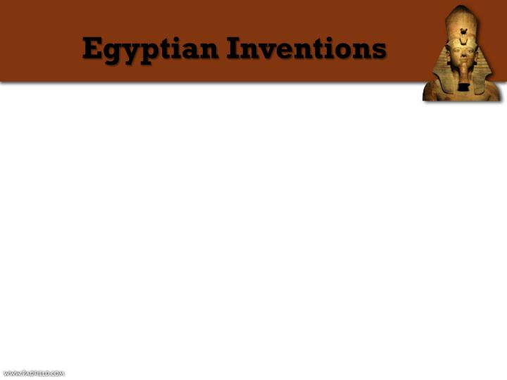 Egyptian Inventions