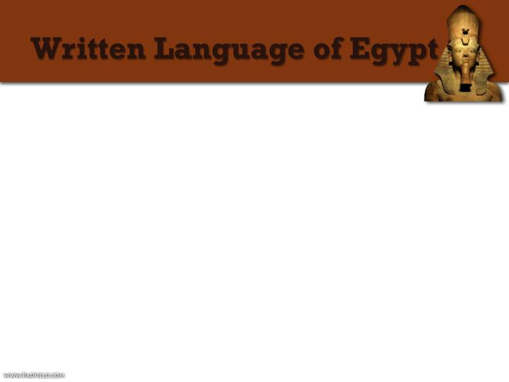 Written Language of Egypt