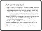 mc s summary take