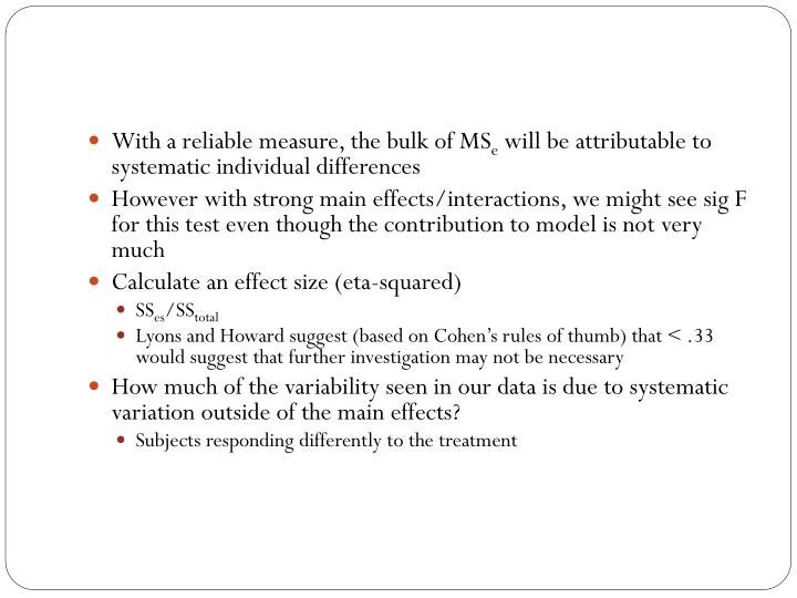 With a reliable measure, the bulk of MS