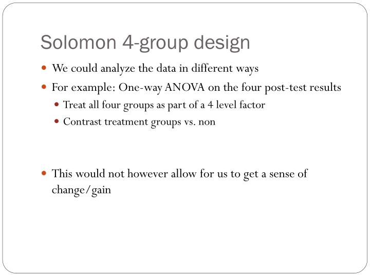 Solomon 4-group design