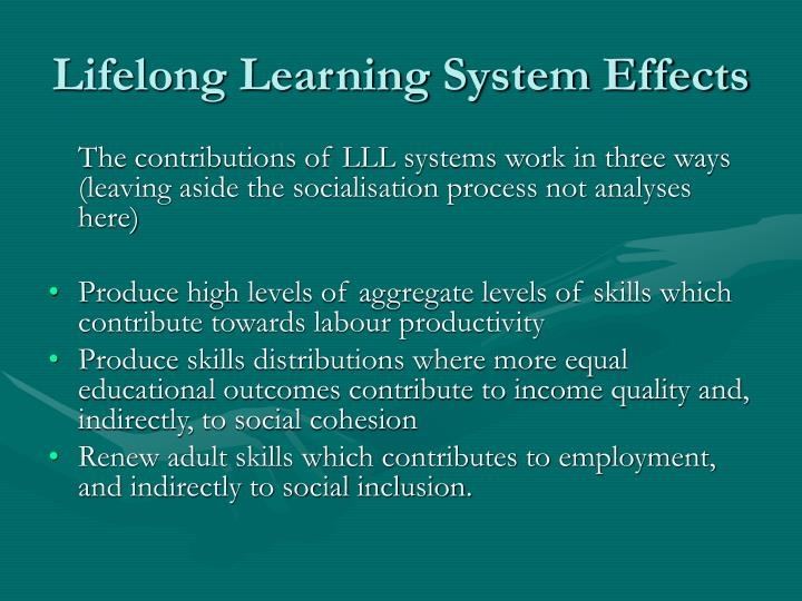 Lifelong Learning System Effects
