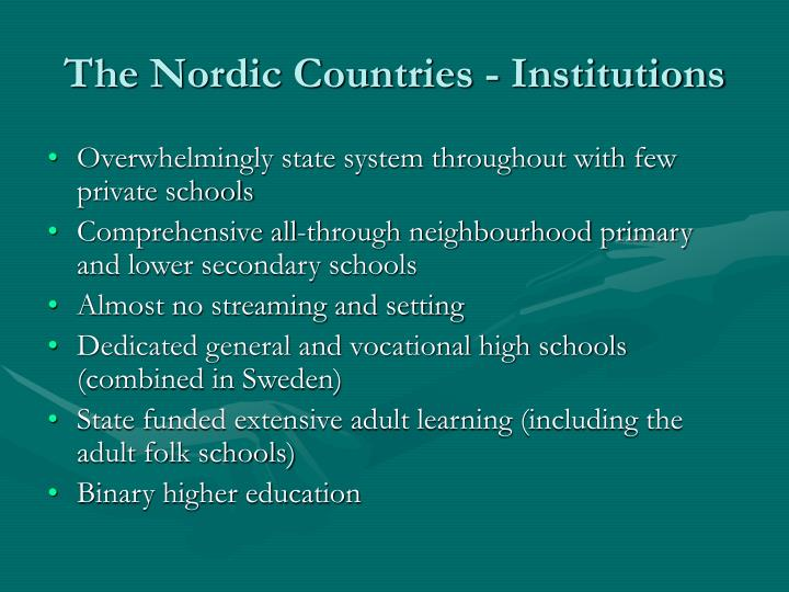 The Nordic Countries - Institutions