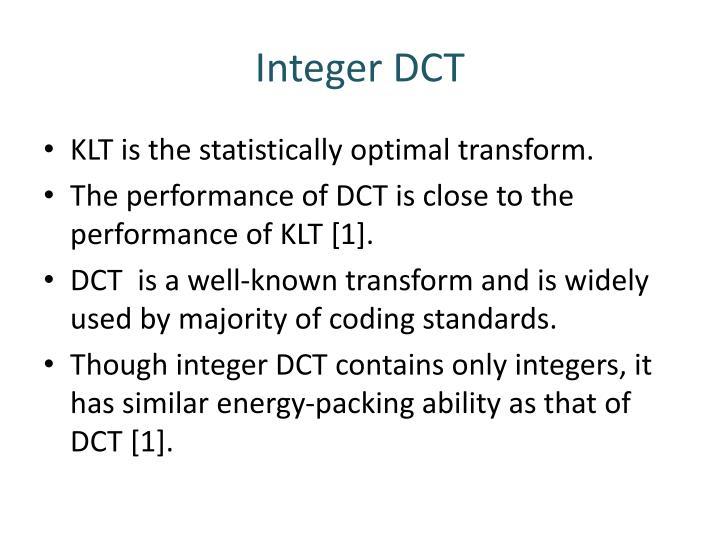 Integer DCT