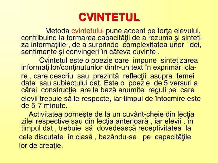 CVINTETUL