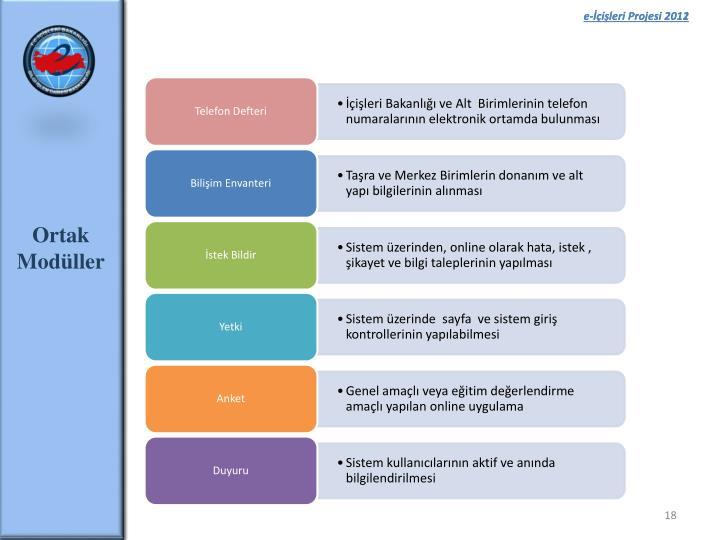 e-İçişleri Projesi 2011