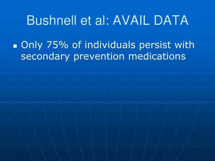 Bushnell et al: AVAIL DATA
