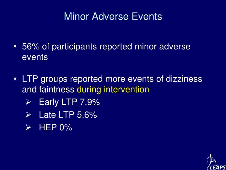 Minor Adverse Events