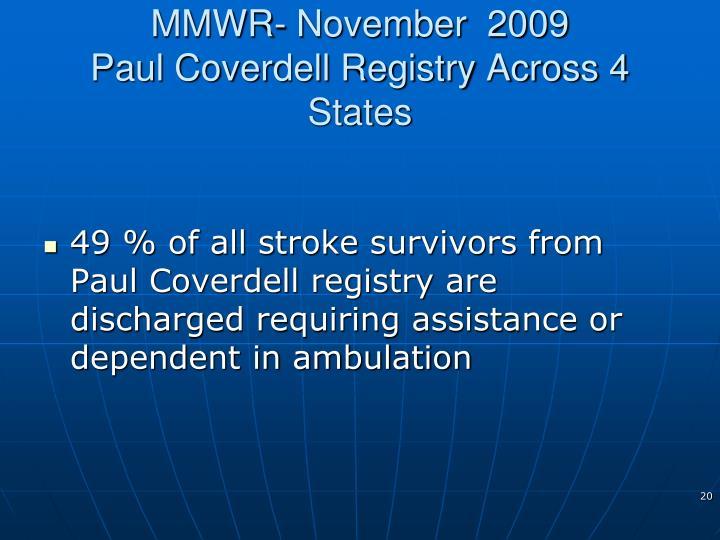 MMWR- November  2009