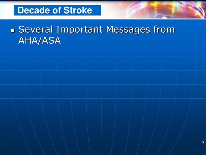 Several Important Messages from AHA/ASA