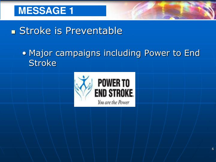 Stroke is Preventable