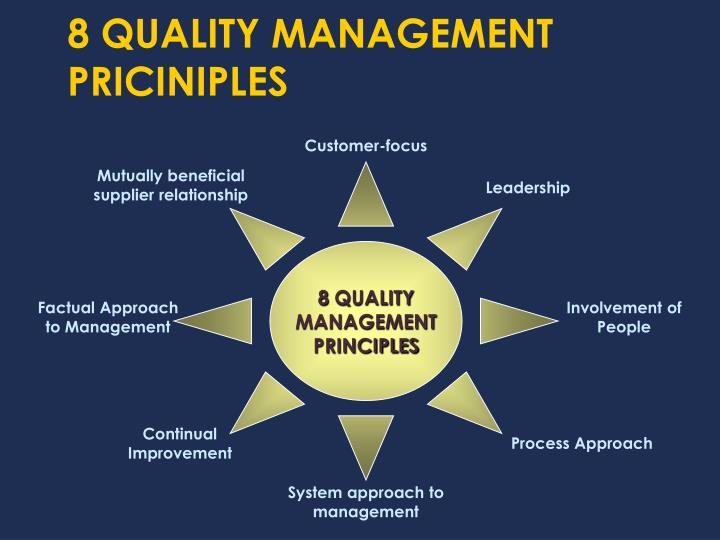8 QUALITY MANAGEMENT PRICINIPLES