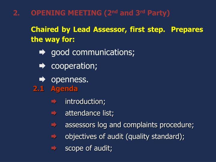 OPENING MEETING (2