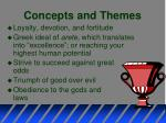 concepts and themes