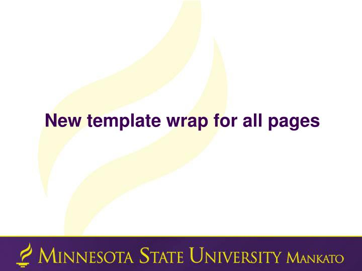 New template wrap for all pages