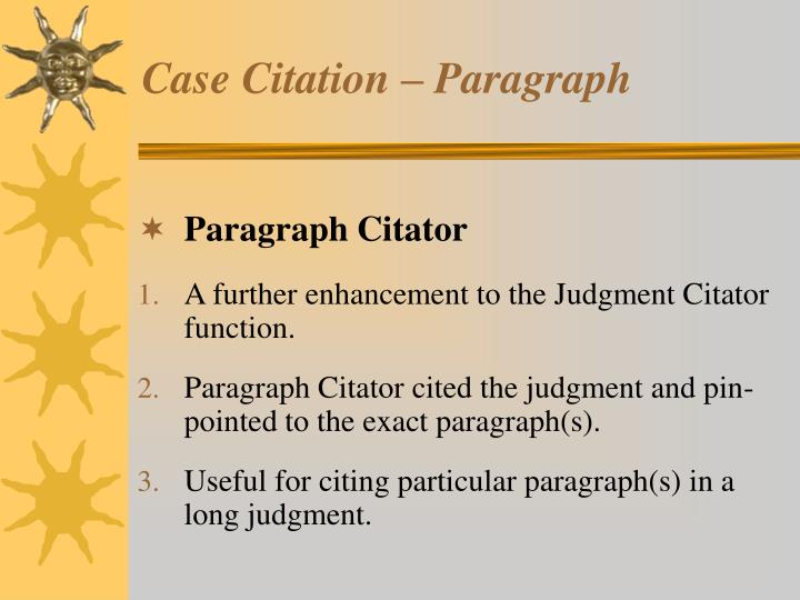 Case Citation – Paragraph